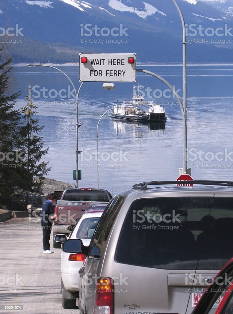 ferry lineup royalty-free stock photo