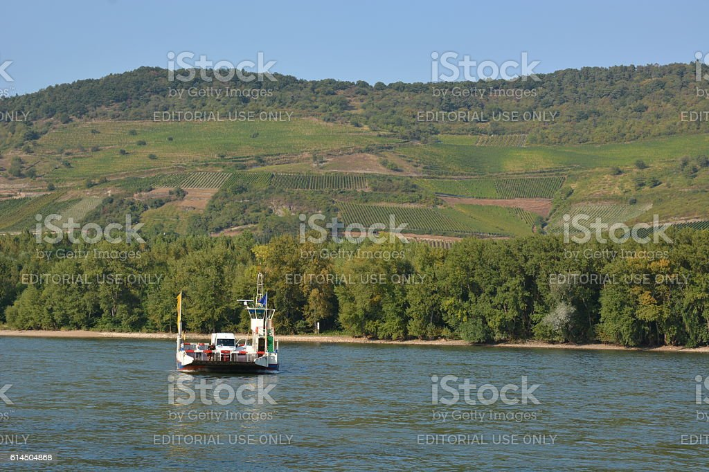 Ferry of St. Goar stock photo