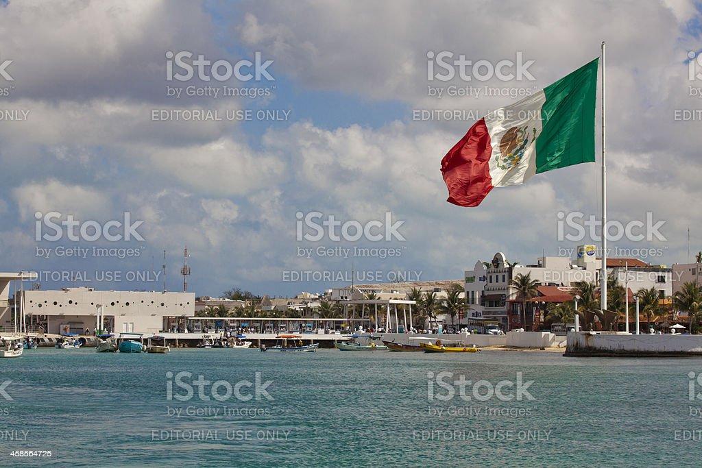 Ferry Port in Playa Del Carmen Mexico royalty-free stock photo