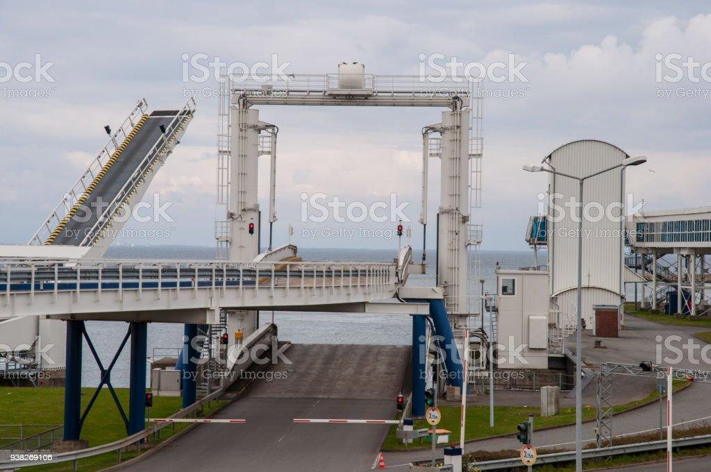 Ferry port of Puttgarden in Germany stock photo