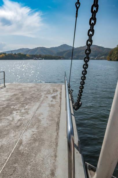 Ferry ramp on Nami Island in South Korea stock photo