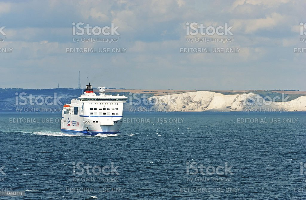 Ferry sailing from Dover stock photo