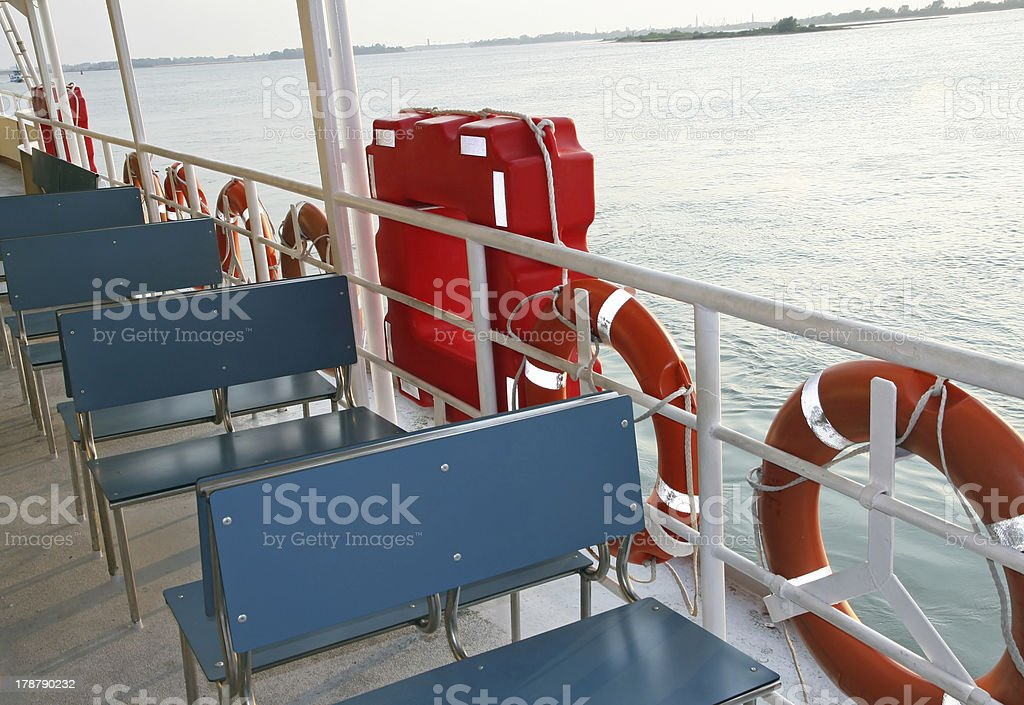 Ferry ship to transport tourists in Venice stock photo