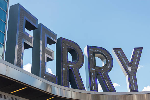Ferry Sign stock photo
