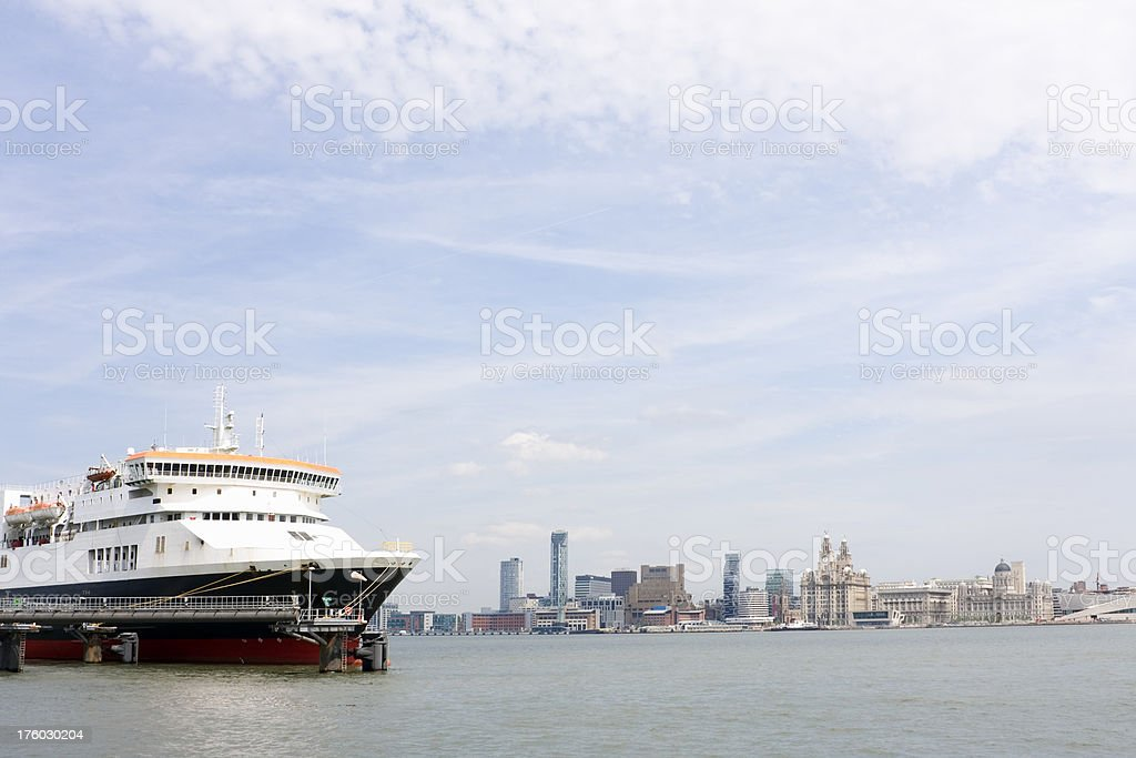 Ferry terminal, Liverpool waterfront stock photo