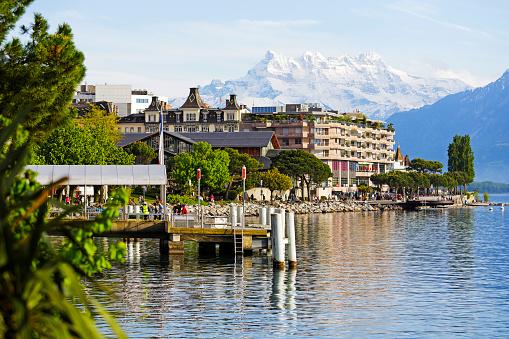 Ferry terminal on Lake Geneva