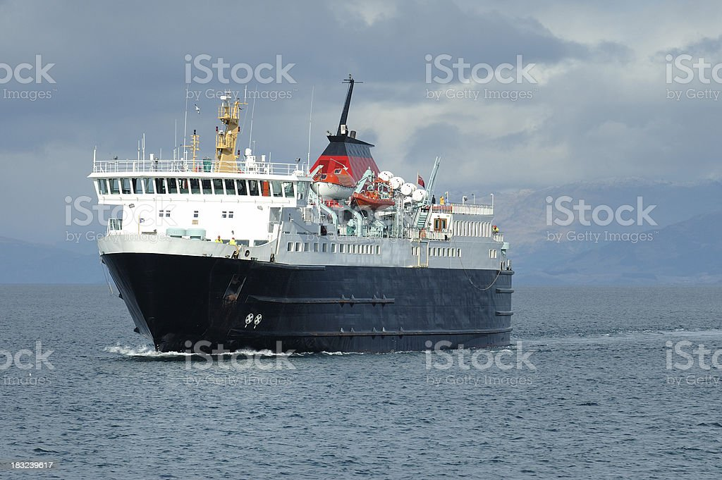 Ferry to the Hebrides stock photo