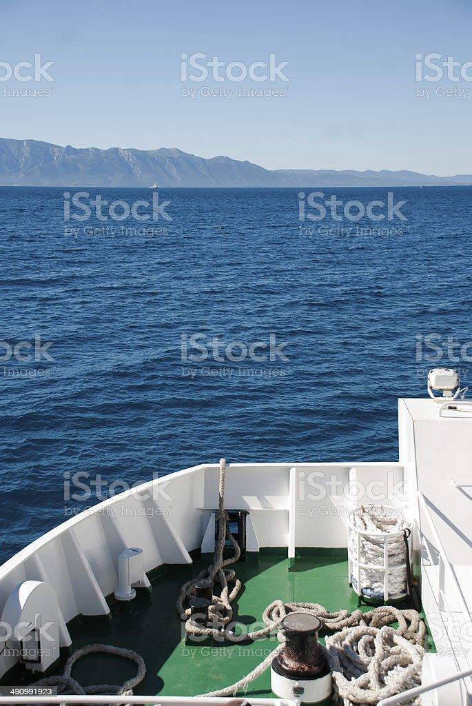 Ferry travel stock photo