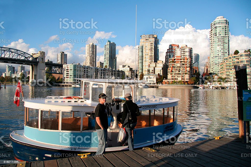 Ferry water taxis, Granville Island. Vancouver, British Columbia stock photo
