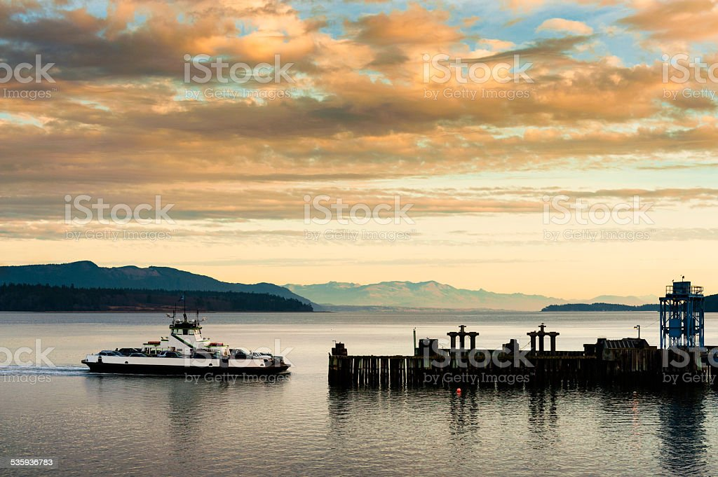 Ferryboat Docking stock photo