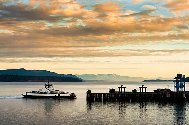 Ferryboat Docking stock photo