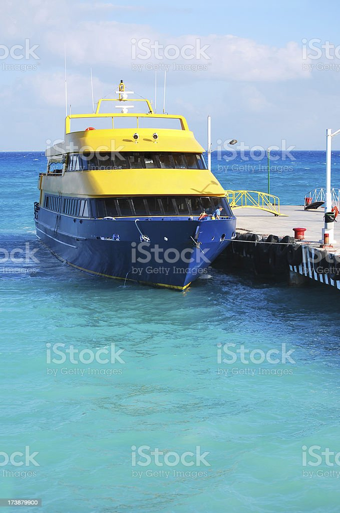 Ferryboat  on the sea royalty-free stock photo