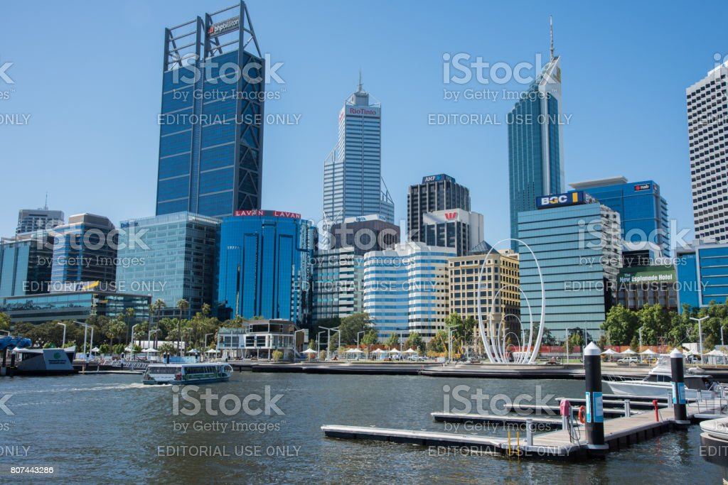 Ferrying into Elizabeth Quay stock photo