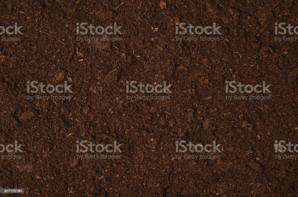 Fruchtbare Gartenerde Textur Hintergrund Draufsicht – Foto