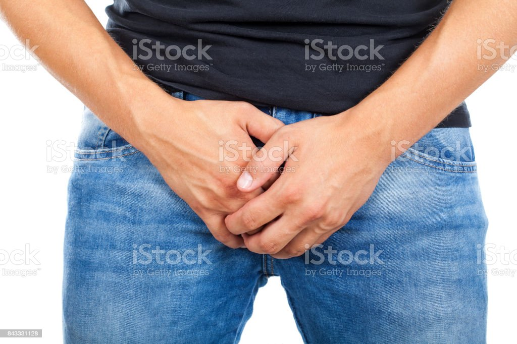 Fertility problem in young men stock photo