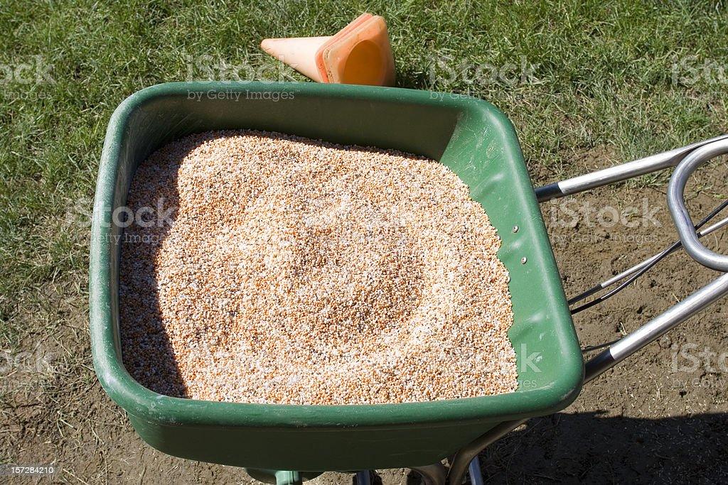 Fertilize the grass royalty-free stock photo
