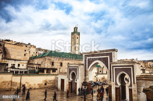 Fes cityscape in Bab Rcif, Morocco