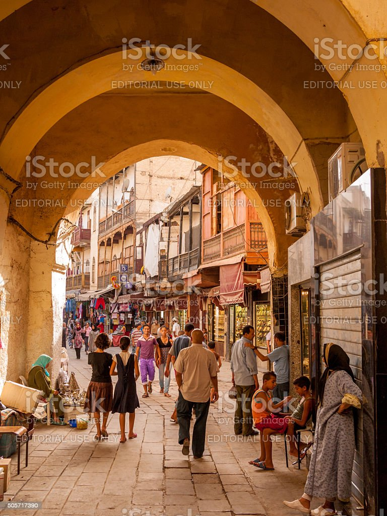 Fes Medina, Morocco stock photo