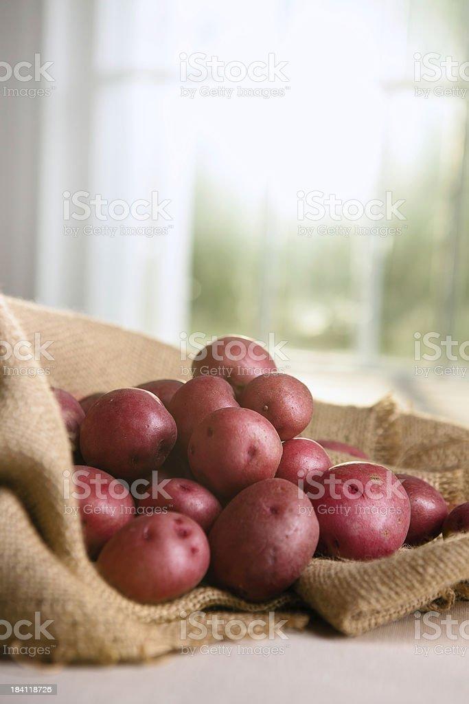 Fesh Baby Red Potatoes stock photo