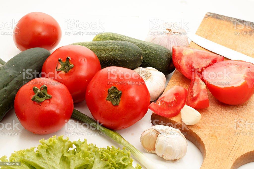 Fesh vegetables stock photo
