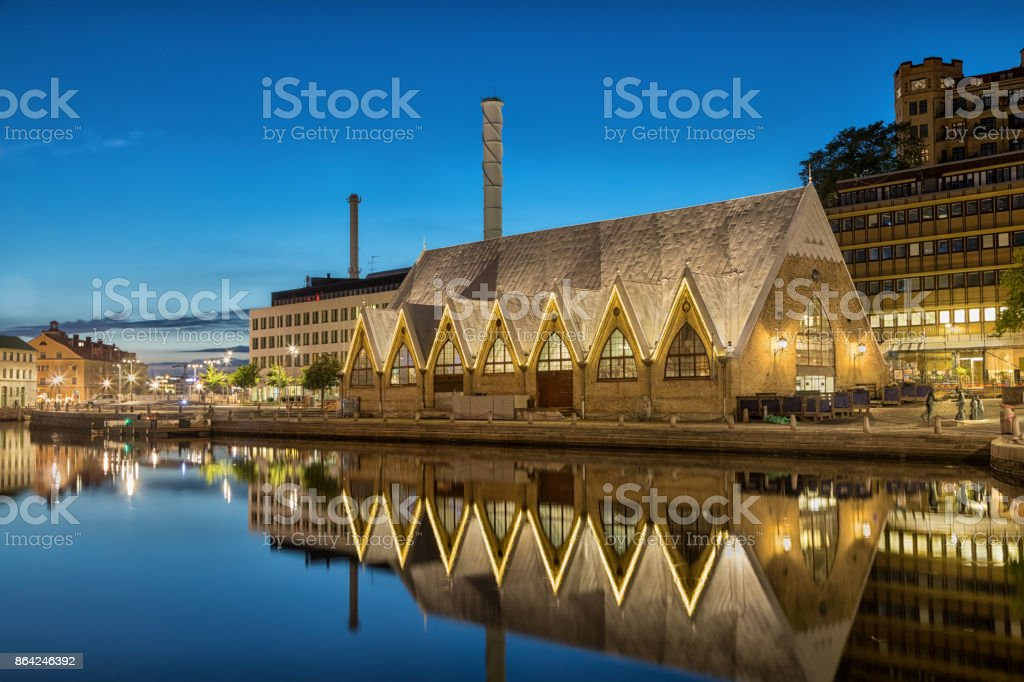 Feskekorka (Fish church) is an fish market in Gothenburg, Sweden royalty-free stock photo