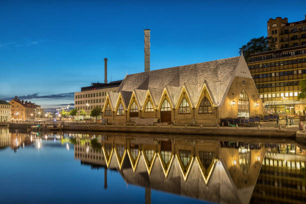 Feskekorka (Fish church) is an fish market in Gothenburg, Sweden stock photo