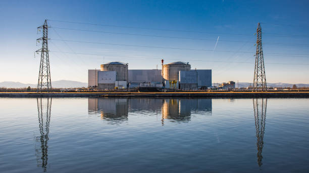 kernkraftwerk fessenheim, elsass, frankreich - andreas haas stock-fotos und bilder