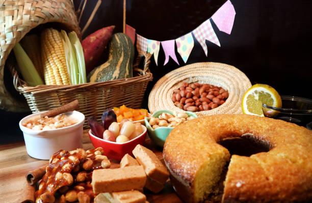 Festa Junina traditional food. Brazilian food. stock photo