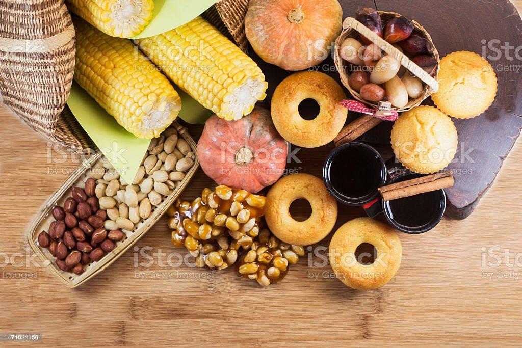 Festa Junina comida tradicional - foto de acervo