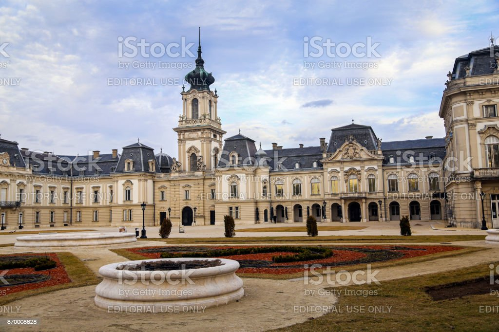 Festetics Palace Keszthely stock photo