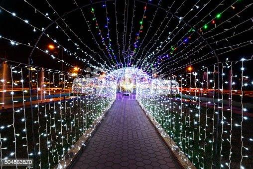 istock LED Festival at Kantararak ,Sisaket,Thailand 504863870