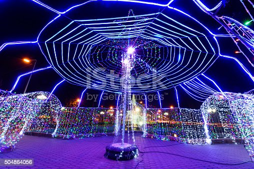 istock LED Festival at Kantararak ,Sisaket,Thailand 504864056