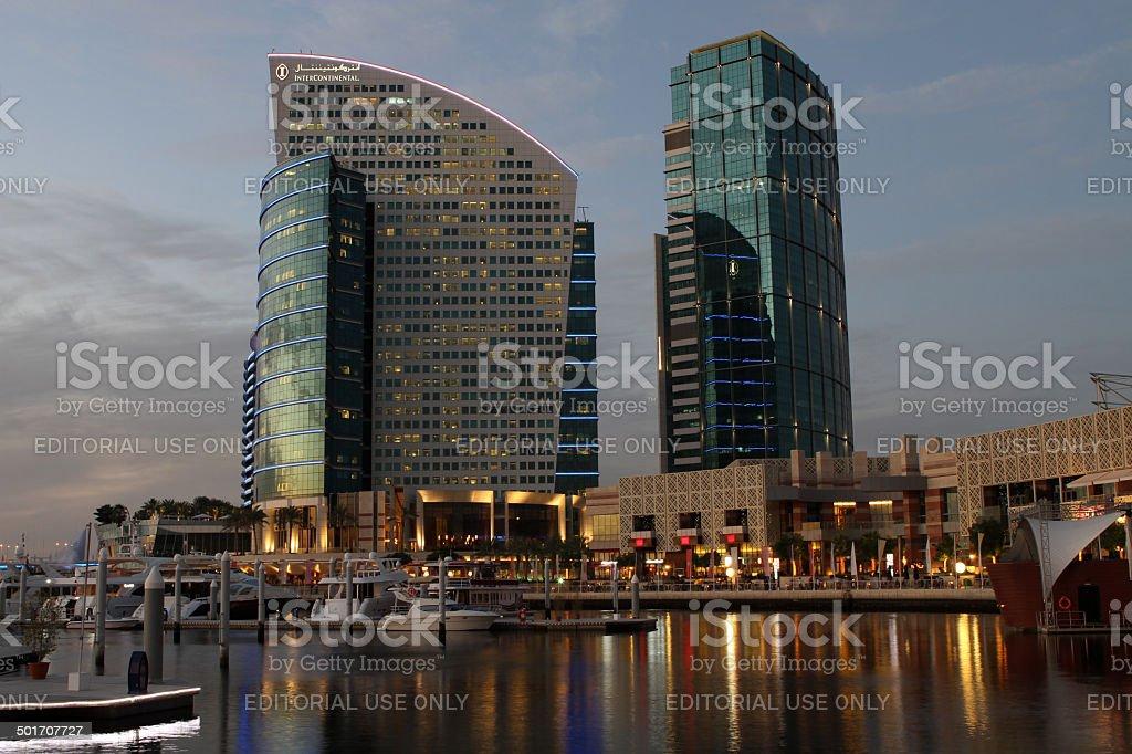 Festival City in Dubai stock photo