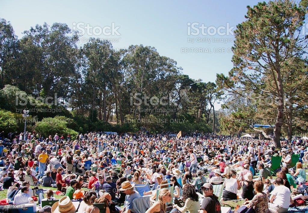 Festival Crowd stock photo