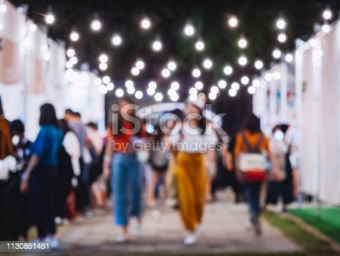 Festival Event Party Hipster Asian girl walking Holiday Background