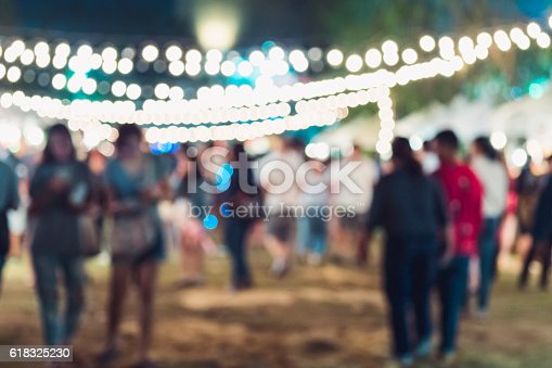 860440036 istock photo Festival Event Party Hipster People Blurred Background 618325230