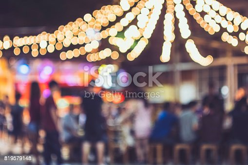 istock Festival Event Party Outdoor Blur People Background 819579148