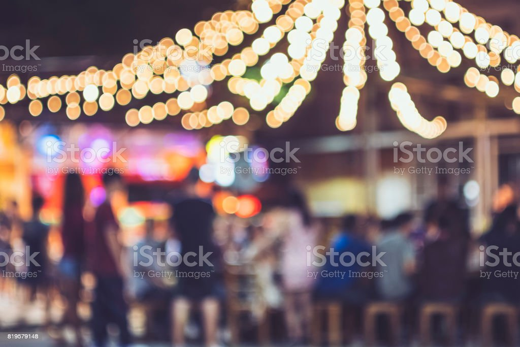 Festival Event Party Outdoor Blur People Background stock photo