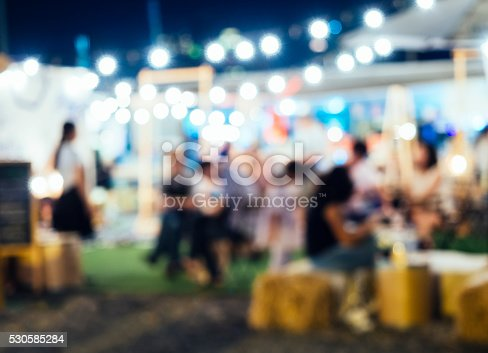 860440036 istock photo Festival Event Party with Blurred People Background 530585284