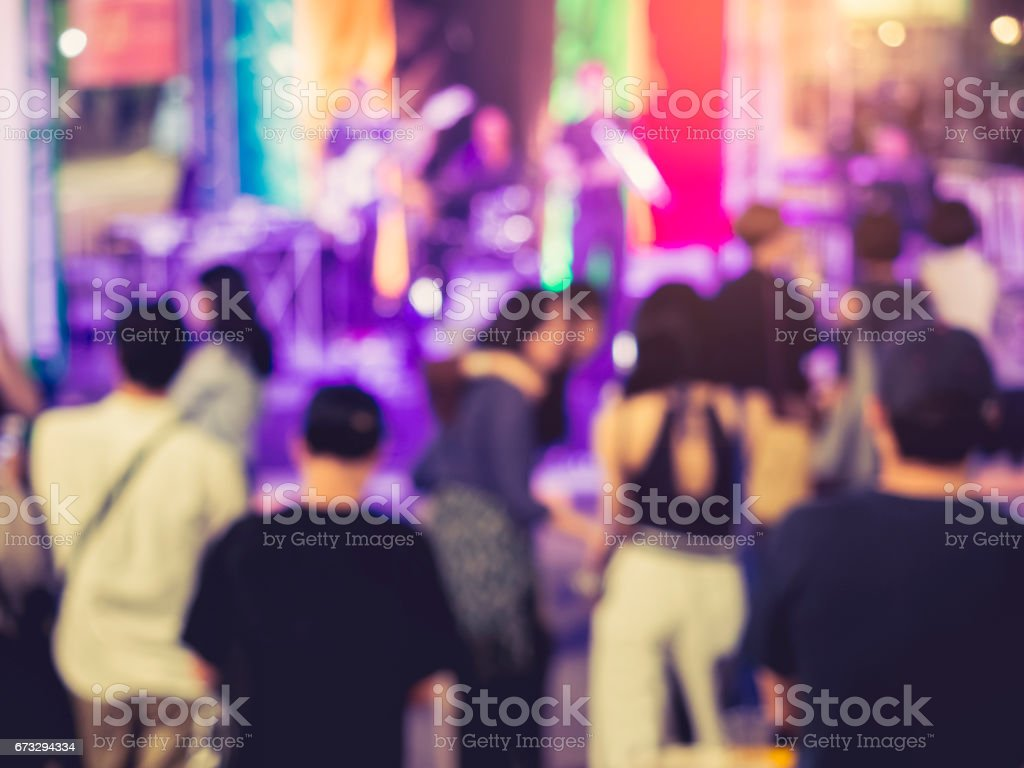 Festival Event Party with Blurred People Background royalty-free stock photo