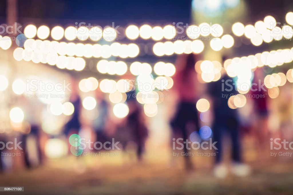 Festival Event Party with People Blurred Background stock photo