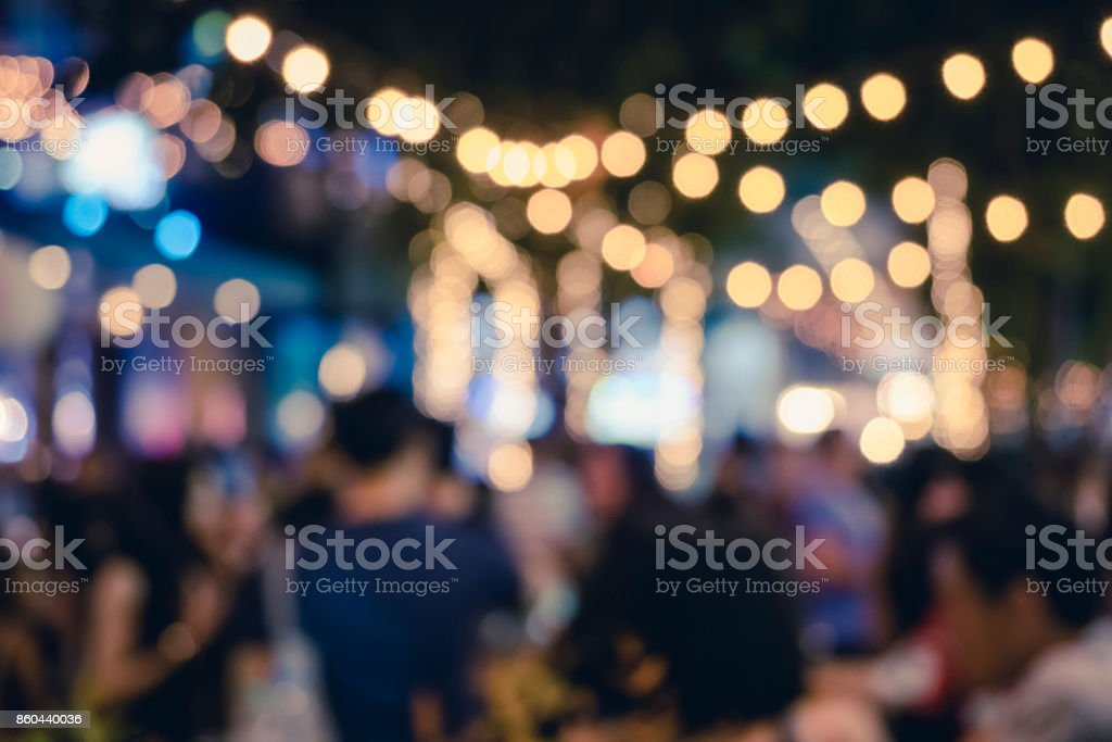 Festival Event Party with People Blurred Background royalty-free stock photo