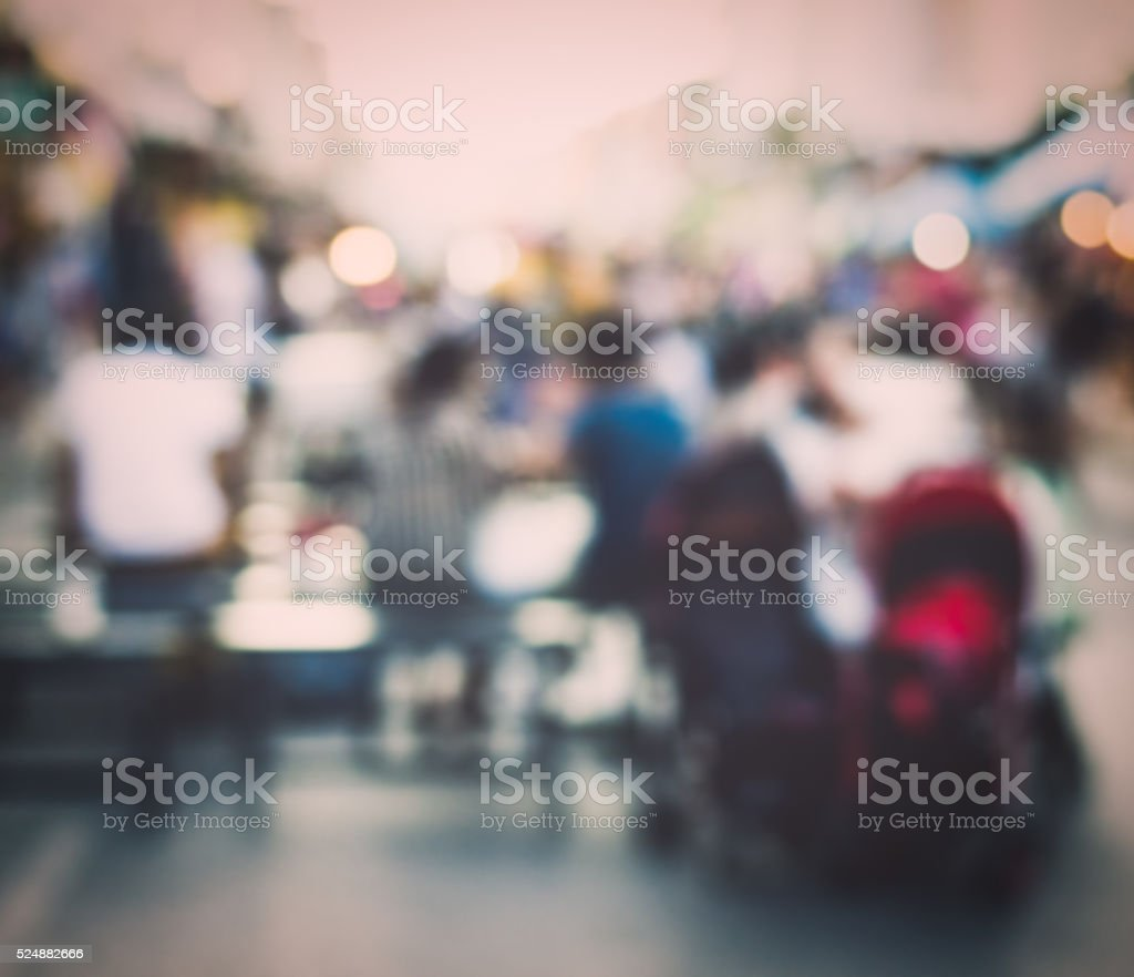 Festival event with blurred people background stock photo