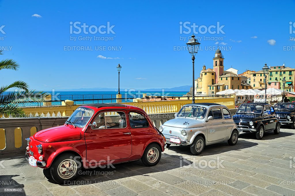 Festival Fiat 500 Rally stock photo