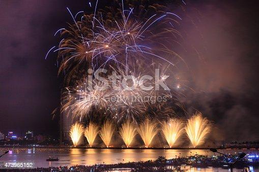 istock Festival fireworks on the River Han-Da Nang 473965152