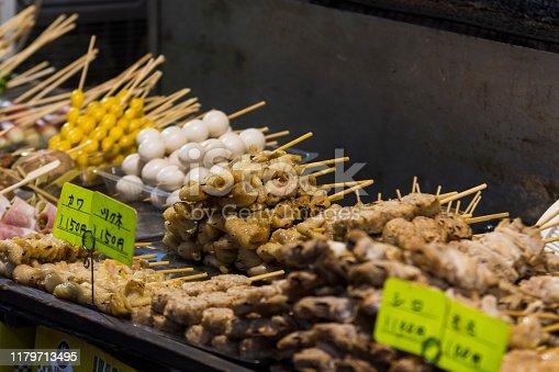 屋台,牛肉,串焼き,鶏肉,祭り,秋祭り,小遣い,調理,豚肉,賑わい,肉