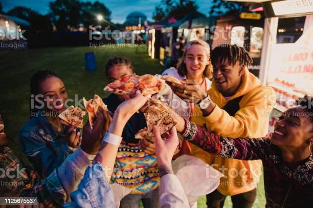 Festival goers sharing pizza picture id1125675537?b=1&k=6&m=1125675537&s=612x612&h=fx7chxgo 3lnuhugc3tzcm0eipuey4xqevhqfhpzbvi=