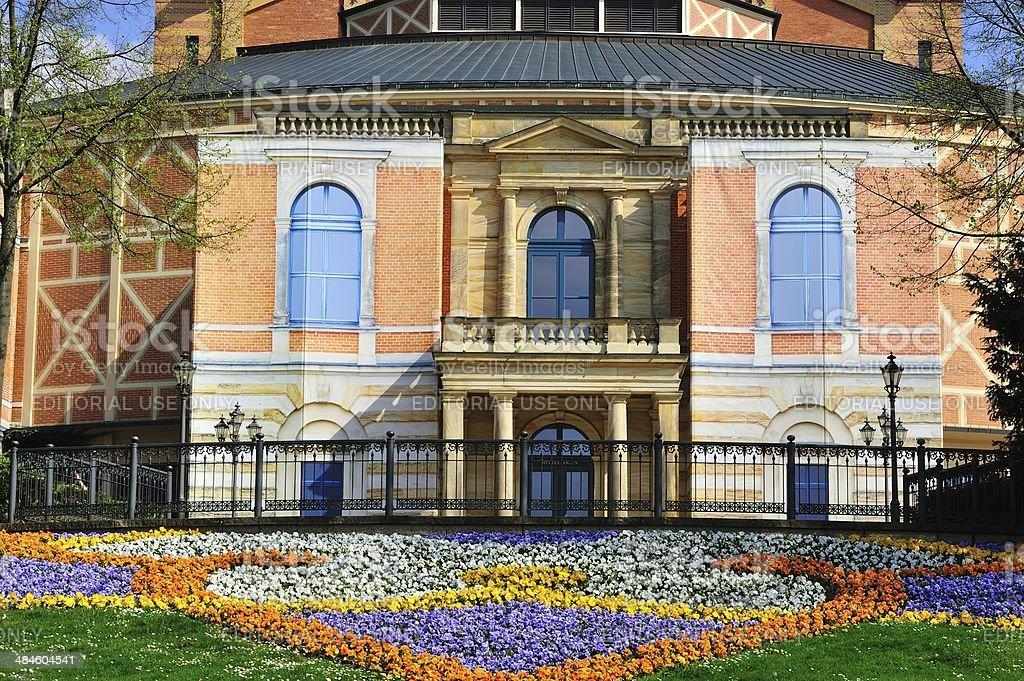 Festival hall Bayreuth stock photo