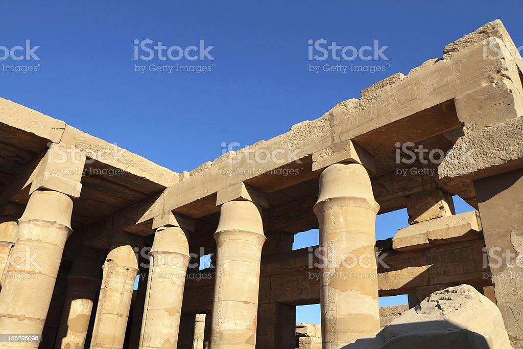 Festival Hall of Tuthmosis III, Karnak Temple, Luxor Egypt royalty-free stock photo