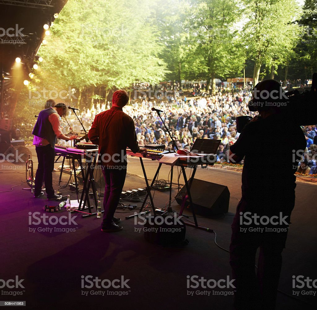 Festival highlight! stock photo